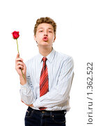Роза и поцелуй. Стоковое фото, фотограф Алена Роот / Фотобанк Лори