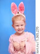 Девочка в костюме кролика. Стоковое фото, фотограф Майя Крученкова / Фотобанк Лори
