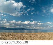 Купить «Байкал. Песчаный пляж», фото № 1366538, снято 10 сентября 2007 г. (c) Andrey M / Фотобанк Лори