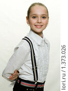 Купить «Портрет девочки на светлом фоне», фото № 1373026, снято 7 ноября 2009 г. (c) Гребенников Виталий / Фотобанк Лори