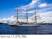 Купить «Белый фрегат на Неве», фото № 1375786, снято 21 июня 2008 г. (c) Алексей Попов / Фотобанк Лори