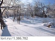 Заснеженный сад на даче. Стоковое фото, фотограф Наталья Громова / Фотобанк Лори
