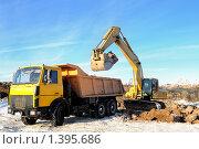 Купить «Экскаватор», фото № 1395686, снято 15 января 2010 г. (c) Дмитрий Калиновский / Фотобанк Лори