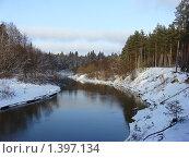 Купить «Начало зимы, еще не покрытая льдом река в лесу», фото № 1397134, снято 2 января 2009 г. (c) Емельянов Валерий / Фотобанк Лори