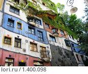Купить «Дом Хундертвассера в Вене», фото № 1400098, снято 6 июля 2008 г. (c) Светлана Степачёва / Фотобанк Лори