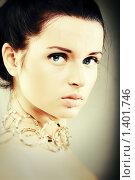 Купить «Портрет девушки, стилизованный под старину», фото № 1401746, снято 15 сентября 2009 г. (c) Вероника Галкина / Фотобанк Лори