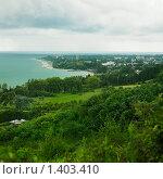 Абхазия. Вид на Гудауту. Морской пейзаж (2009 год). Стоковое фото, фотограф Майер Георгий Владимирович / Фотобанк Лори