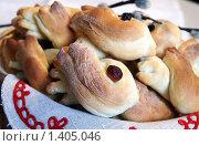 Русские сдобные булочки - жаворонки. Стоковое фото, фотограф Татьяна Емшанова / Фотобанк Лори