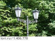 Купить «Уличный фонарь в сквере Выборга», эксклюзивное фото № 1406778, снято 22 августа 2009 г. (c) Александр Щепин / Фотобанк Лори