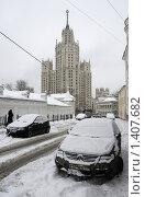 Купить «Москва улица Гончарная», эксклюзивное фото № 1407682, снято 31 декабря 2009 г. (c) Дмитрий Неумоин / Фотобанк Лори