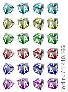Купить «Набор разноцветных кубиков с буквами», иллюстрация № 1410166 (c) Владимир Сергеев / Фотобанк Лори