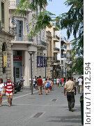 Улица 25 августа, город Ираклион (2009 год). Редакционное фото, фотограф Алексей Шустов / Фотобанк Лори