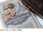 Купить «Остаток вклада», фото № 1421086, снято 27 января 2010 г. (c) Gagara / Фотобанк Лори
