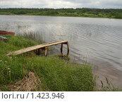 Мостки на реке Медведице. Стоковое фото, фотограф Константин Григорьев / Фотобанк Лори