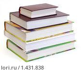 Купить «Стопка книг на белом фоне», эксклюзивное фото № 1431838, снято 30 января 2010 г. (c) Юрий Морозов / Фотобанк Лори