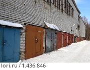 Купить «Гаражи», фото № 1436846, снято 31 января 2010 г. (c) АЛЕКСАНДР МИХЕИЧЕВ / Фотобанк Лори