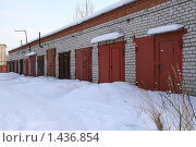 Купить «Гаражи», фото № 1436854, снято 31 января 2010 г. (c) АЛЕКСАНДР МИХЕИЧЕВ / Фотобанк Лори