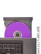 Ноутбук с открытым CD-приводом. Стоковое фото, фотограф Суров Антон / Фотобанк Лори