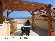 Купить «Романтичное место с видом на Средиземное море. Райский уголок», фото № 1441686, снято 5 октября 2009 г. (c) Дамир / Фотобанк Лори