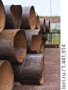 Металлолом. Трубы большого диаметра. Стоковое фото, фотограф Карташов Евгений / Фотобанк Лори