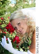 Портрет невесты с розами. Стоковое фото, фотограф Евгений Курлыкин / Фотобанк Лори