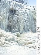 Купить «Замерзший водопад», фото № 1448274, снято 16 февраля 2009 г. (c) Анастасия Некрасова / Фотобанк Лори