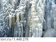 Замерзший водопад, фото № 1448278, снято 16 февраля 2009 г. (c) Анастасия Некрасова / Фотобанк Лори