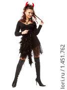 Купить «Девушка-дьявол», фото № 1451762, снято 23 декабря 2007 г. (c) Валентин Мосичев / Фотобанк Лори