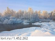 Купить «Туманная река», фото № 1452262, снято 21 января 2010 г. (c) Валентин Мосичев / Фотобанк Лори