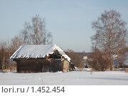 Деревенский пейзаж. Разрушенный сарай. Стоковое фото, фотограф Дмитрий Земсков / Фотобанк Лори