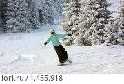 Едущий сноубордист. Стоковое фото, фотограф Толкачёв Евгений / Фотобанк Лори