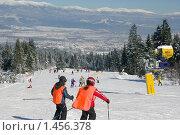 Участок горнолыжной трассы в Банско (Болгария) (2010 год). Редакционное фото, фотограф ZitsArt / Фотобанк Лори