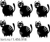 Купить «Кошки, набор эмоции», иллюстрация № 1456918 (c) Светлана Арешкина / Фотобанк Лори