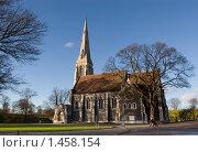 Купить «Готическая церковь в Копенгагене», фото № 1458154, снято 10 ноября 2007 г. (c) Козловская Ксения / Фотобанк Лори