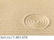 Купить «Композиция - японский сад дзэн с концентрическими кругами», фото № 1461674, снято 4 декабря 2009 г. (c) pzAxe / Фотобанк Лори