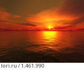 Купить «Закат на море», фото № 1461990, снято 24 февраля 2018 г. (c) Losevsky Pavel / Фотобанк Лори