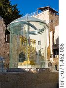 Купить «Символ Иудаизма Менора на улице Иерусалима. Израиль», фото № 1462086, снято 17 января 2010 г. (c) Светлана Силецкая / Фотобанк Лори
