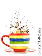 Купить «Чашка чая с брызгами», фото № 1462922, снято 14 ноября 2008 г. (c) Ярослав Данильченко / Фотобанк Лори