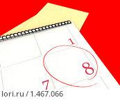 Выделенное в календаре число 8. Стоковая иллюстрация, иллюстратор Станислав Парамонов / Фотобанк Лори