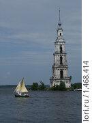 Калязин. Колокольня (2009 год). Редакционное фото, фотограф Сандалов Максим / Фотобанк Лори