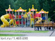 Купить «Детская площадка. Терлецкий лесопарк. Москва», фото № 1469690, снято 4 июня 2009 г. (c) Юлия Шилова / Фотобанк Лори