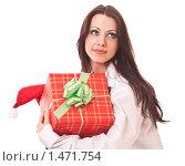 Молодая девушка с подарком. Стоковое фото, фотограф Светлана Широкова / Фотобанк Лори