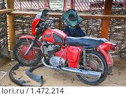 Купить «Мотоцикл ИЖ-Юпитер», эксклюзивное фото № 1472214, снято 9 апреля 2009 г. (c) Алёшина Оксана / Фотобанк Лори