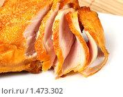 Копченая куриная грудка. Стоковое фото, фотограф ElenArt / Фотобанк Лори