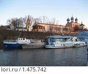 Речная навигация_пристань у Рязанского кремля (2007 год). Редакционное фото, фотограф Валентин Тучин / Фотобанк Лори