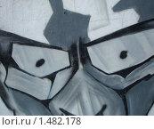 Купить «Серые, злые глаза. Граффити.», фото № 1482178, снято 1 января 2004 г. (c) Денис Кравченко / Фотобанк Лори
