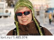Портрет девушки в зимней шапке. Стоковое фото, фотограф Смирнов Владимир / Фотобанк Лори