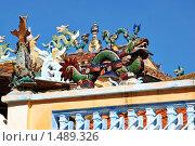 Купить «Китайская пагода», фото № 1489326, снято 7 января 2010 г. (c) Лифанцева Елена / Фотобанк Лори