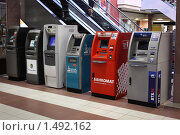 Купить «Банкоматы в торговом центре», фото № 1492162, снято 20 февраля 2010 г. (c) Анастасия Семенова / Фотобанк Лори