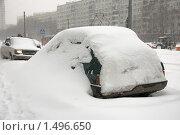 Купить «Занесенный снегом автомобиль», фото № 1496650, снято 22 февраля 2010 г. (c) Артем Ефимов / Фотобанк Лори